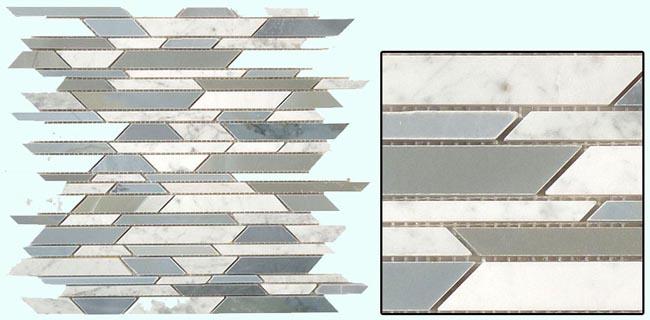 Fuda Tile Mosaic Tile Bamboo Series Ba 803 Moon Stone