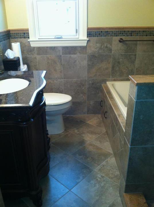 Bathroom Tile   Denver Jade With Glass Mosaic Tile Accents Design Ideas