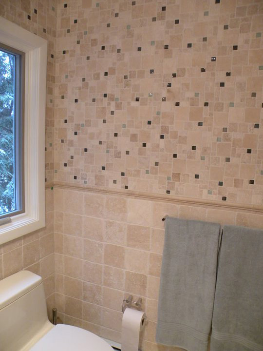 Fuda tile stores bathroom tile gallery for Travertine tile bathroom gallery