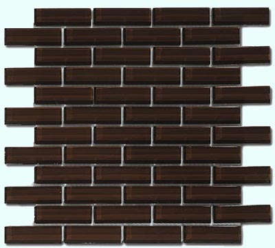 Crystile Series Glass Tile in Chocolate