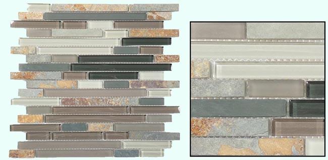 Fuda Tile   Glass & Slate Series - Northampton Putty GS08 Tile
