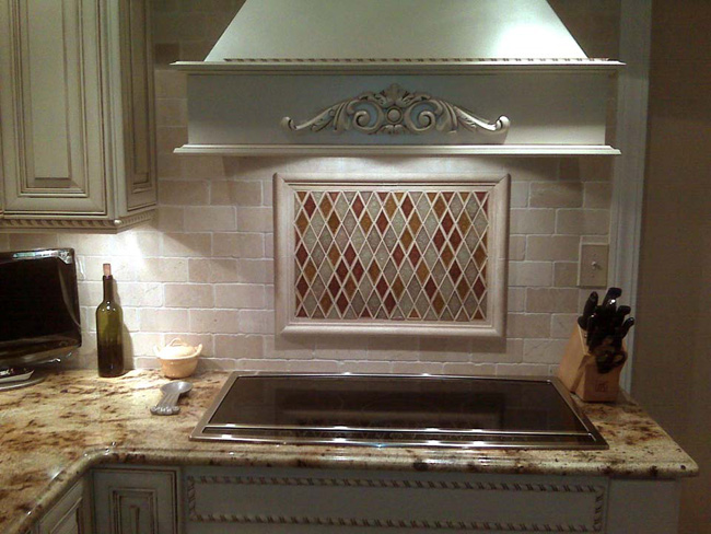 Fuda tile stores kitchen tile gallery Stone backsplash tile
