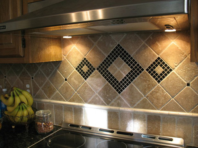 Kitchen Led Gl Tumbled Marble Backsplash