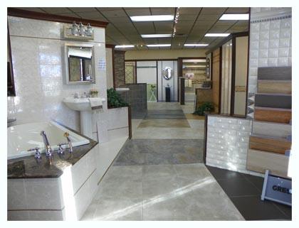 Bathroom Tile Display In Elmwood Tile Showroom